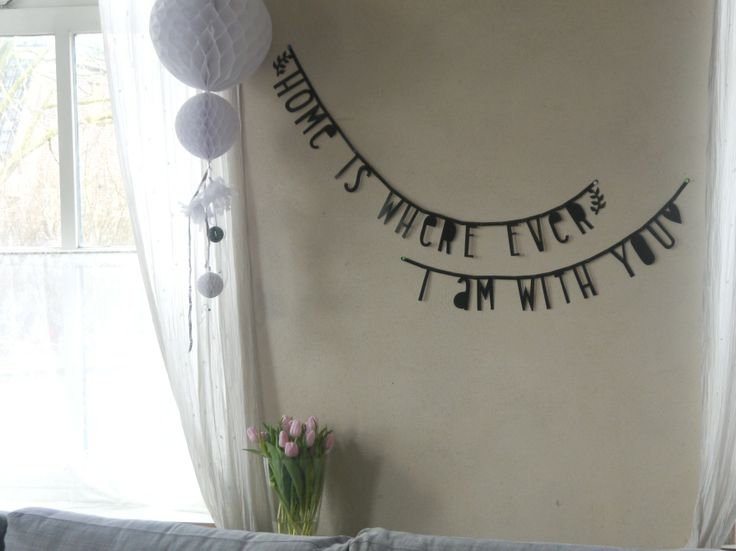 #Wordbanner #tip: #Home is wherever i am with you - Buy it at www.vanmariel.nl - € 11,95