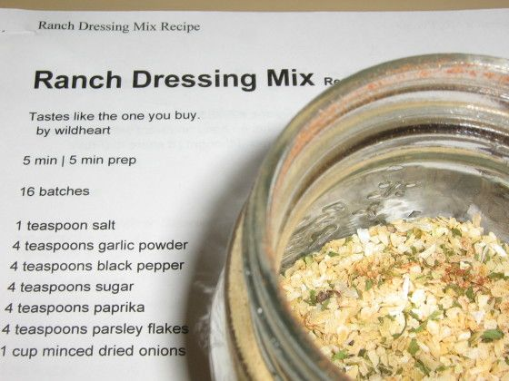 Make and share this Ranch Dressing Mix recipe from Food.com.