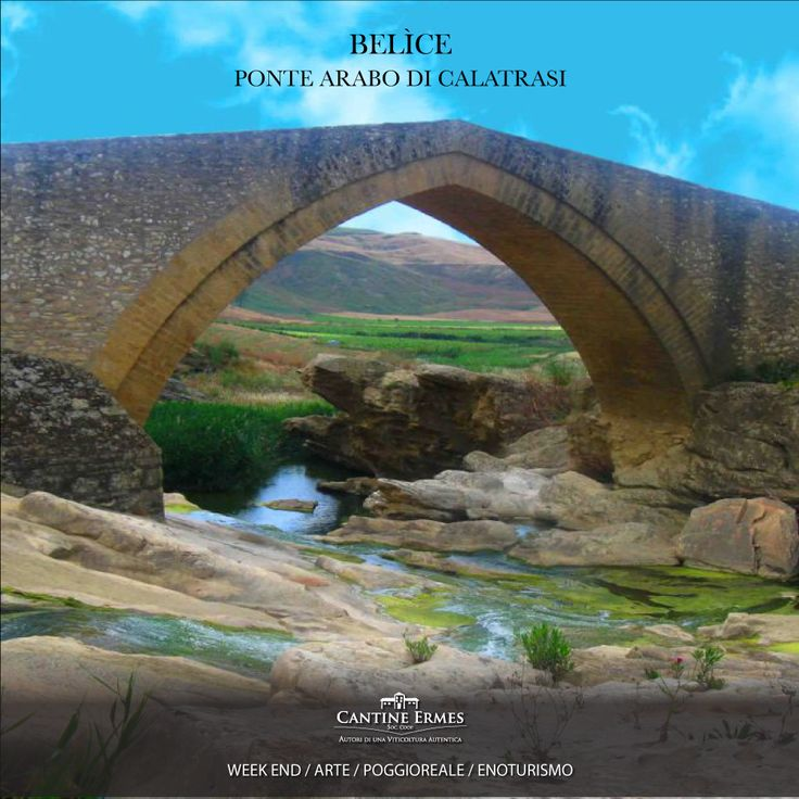 """Il ponte Calatrasi, datato 1160, si erge solitario a valle del Monte Maranfusa, a cavallo del braccio destro del Belìce, permettendo così il passaggio del fiume e l'arrivo al vecchio mulino, frequentato in passato dagli abitanti di Roccamena.  Il ponte, di origine arabo-normanna, recentemente restaurato,  si dice sia stata opera degli spiriti, detti anche """"Fati""""."""