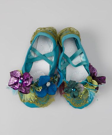 Take a look at this Dusty Blue Peacock Shoes by Enchanted Fairyware Couture on #zulily today!