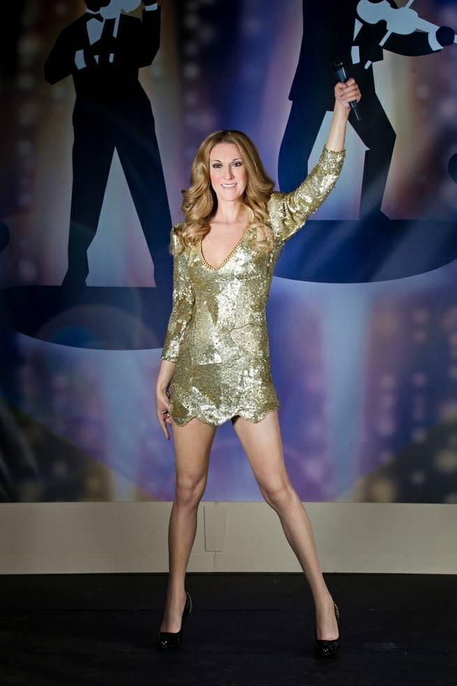 Celine Dion's Wax Figure at Madame Tussauds Las Vegas - 03/01/12