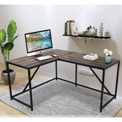 Union Rustic Verdel L Shaped Gaming Desk Wayfair In 2020 Walnut Computer Desk Modern L Shaped Desk Home Office Computer Desk