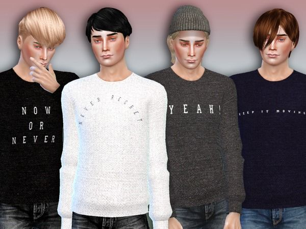 The Sims Resource: Now or Never Sweaters • Sims 4 Downloads