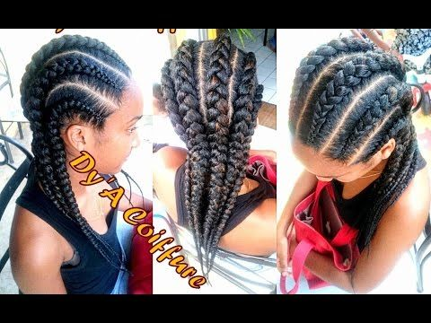 Tutorial 6 Invisible Feeding Cornrows From Different Angles