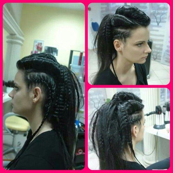 Rock hair style