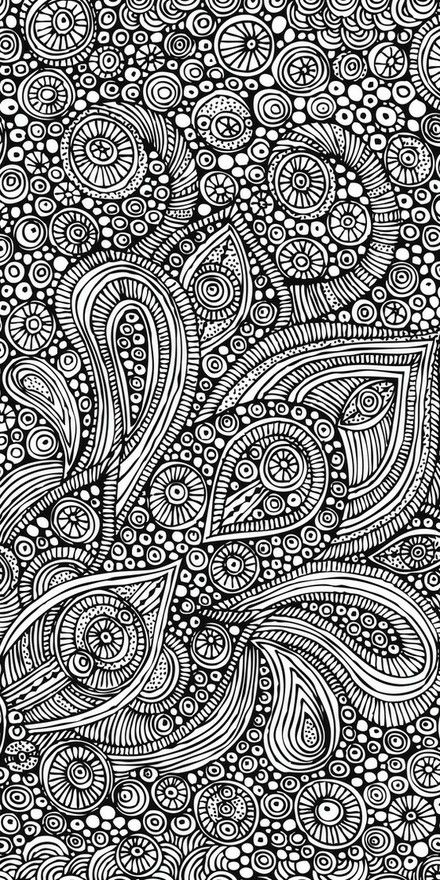This is a neat doodle. I would totally print this to color it!
