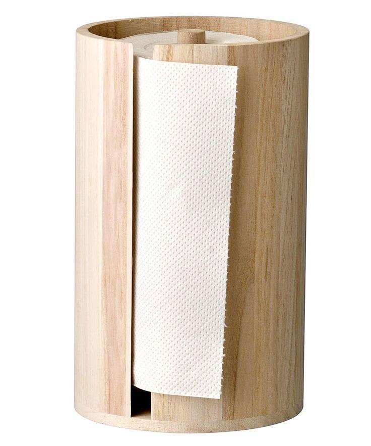 Wood Paper Towel Holder