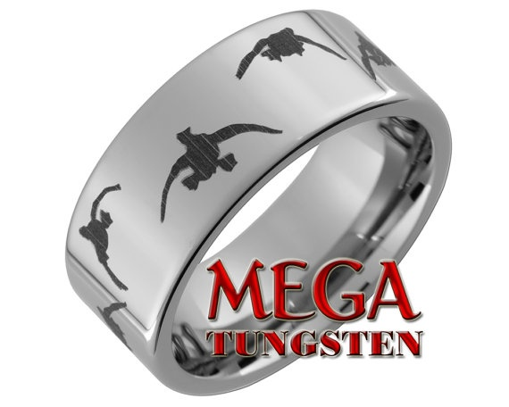 Tungsten Carbide Ring 10mm Pipe Duck Hunting by MegaTungsten, $49.00