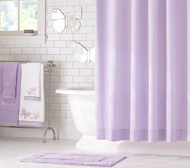 yellow and purple shower curtain. Mini Dot Shower Curtain  PotteryBarnKids for Britains bathroom Best 25 Lavender shower curtain ideas on Pinterest Floral