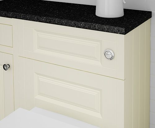 Groove side panels are an exquisite feature of this classic bathroom design. Available in matt finishes with quiet soft close hinges, carefully selected accessories, and the peace of mind of an Atlanta lifetime guarantee.