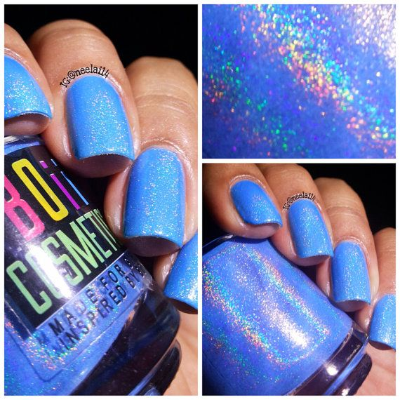 Holographic nail polish holo nail polish Always by boiicosmetics