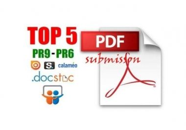 I will convert your Article into PDF file and Manually Submit on PR9 to PR6 Doc sharing sites for £5 #London #SEO #UK