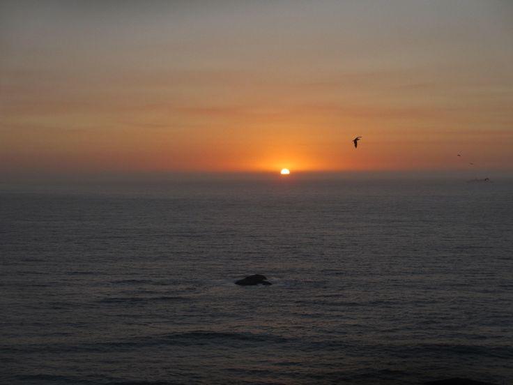 Puesta de sol en Reñaca, Viña del Mar, Chile