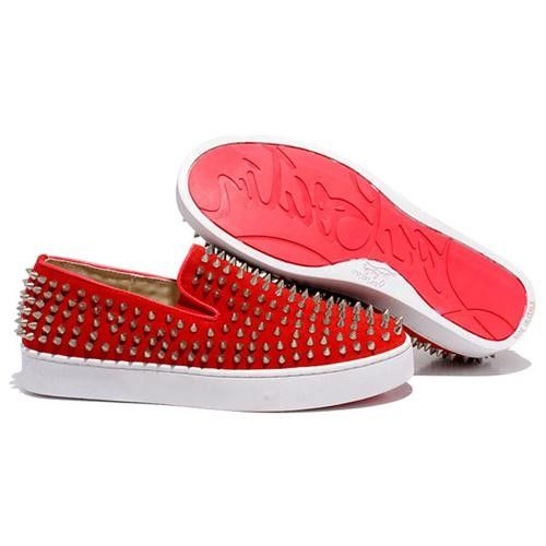 Christian Louboutin Roller Boat Mocassins Rouge