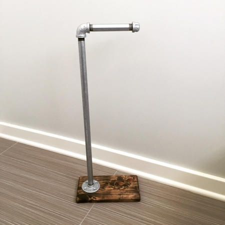 Rustic/Industrial Pipe Toilet Paper Stand/Holder