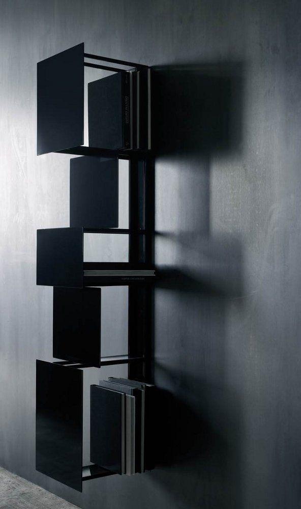 Wall-mounted steel #bookcase BUKVA by Living Divani | #design Victor Vasilev @Living Divani