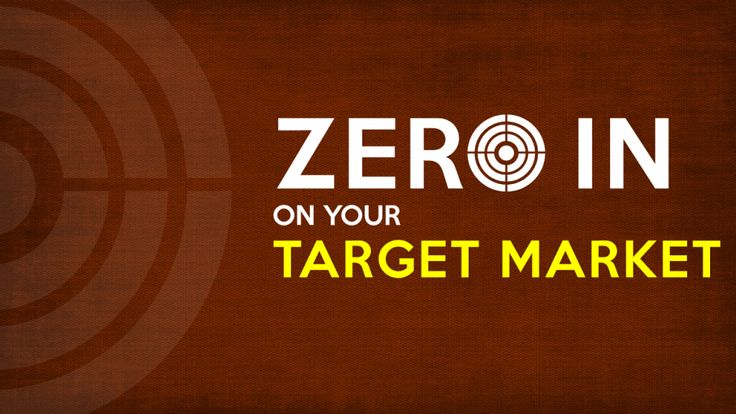 Zero in on your target market- PowerPoint Presentation Cover Slide
