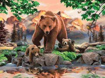 Mama Grizzly With Cubs 1000 Piece Jigsaw Puzzle Sunsout