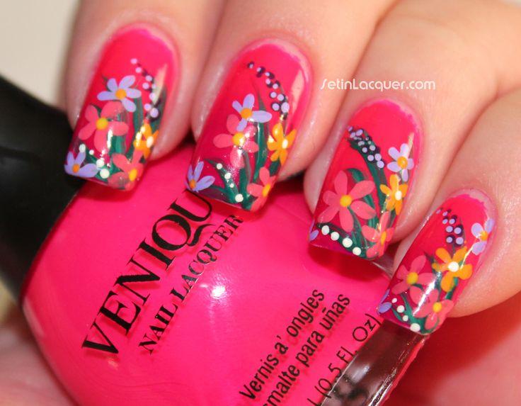 Winstonia Nail Art Brushes and dotting tools - fun floral nail art