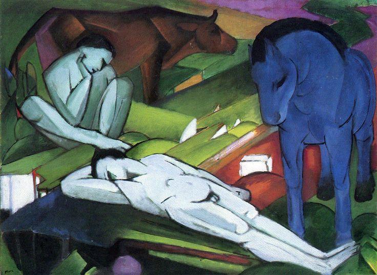 """Пастухи"" (1912), Франц Марк"