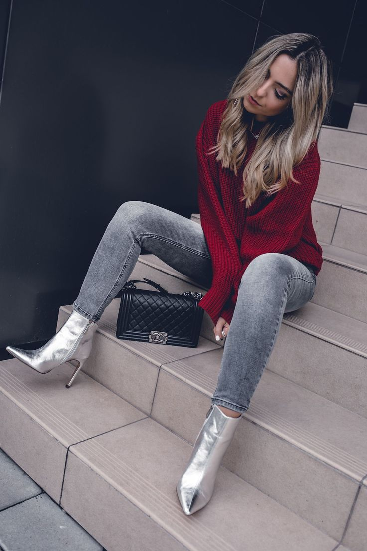 Fall 20 Fashion Trends Women, Red, Inspiration, Outfits, Street ...