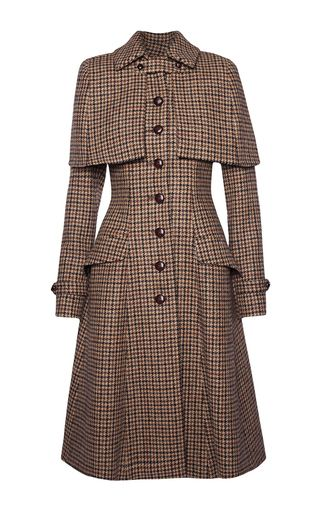this lena hoschek sherlock harris tweed coat features a pointed collar with a detachable. Black Bedroom Furniture Sets. Home Design Ideas