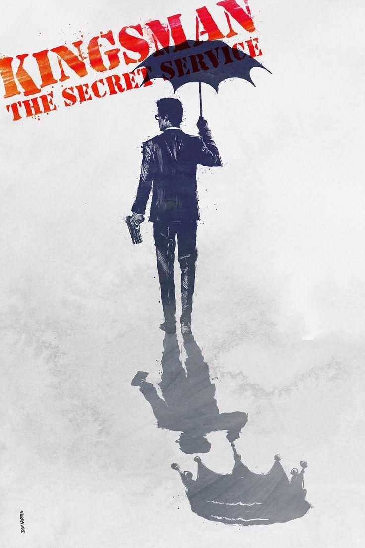 Kingsman: The Secret Service (2014) ~ Alternative Movie Poster by Daniel Norris #amusementphile