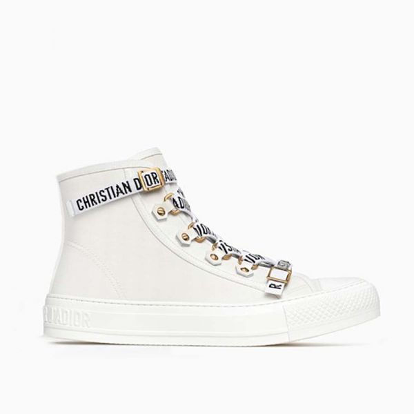 117cc5d5 Dior Women Shoes High-Top Trainer in White Canvas-White   www.Brands ...