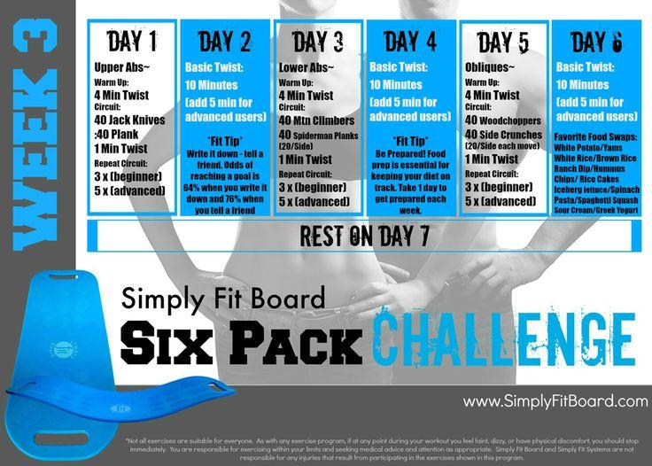 Simply Fit Board Six Pack Challenge: Week 3