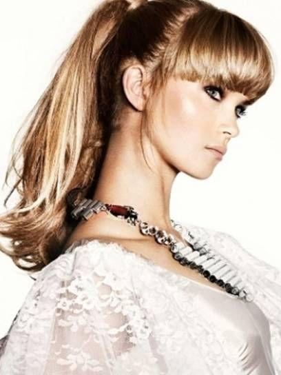 Tagli di capelli 2012 con la frangia - Capelli lunghi con frangia
