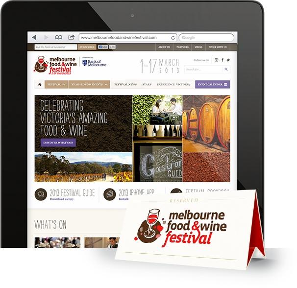 Digital partner, mobile device friendly - Melbourne food and wine festival