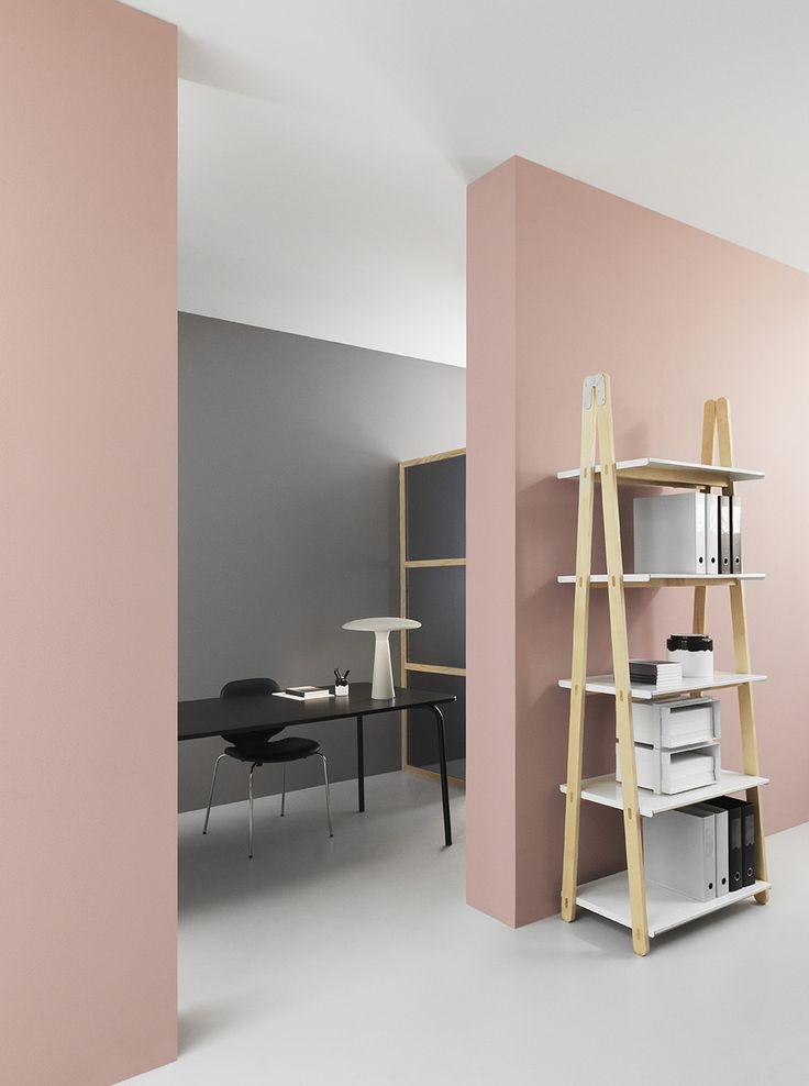 Dusty Pink + Grey Walls | @styleminimalism