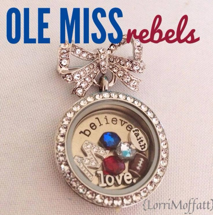 Ole Miss Rebels!! Whether they're your Alma-mater or someone you love. Show your team spirit at your next Origami Owl Jewelry Bar.