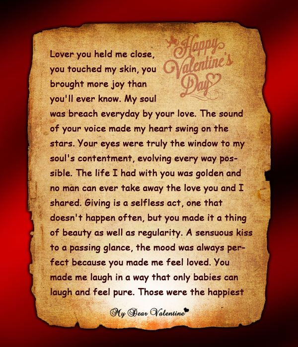 happy valentines letter to my husband