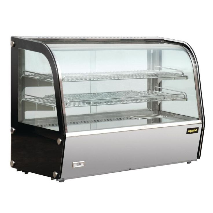 Apuro Heated Countertop Display Cabinet 120Ltr