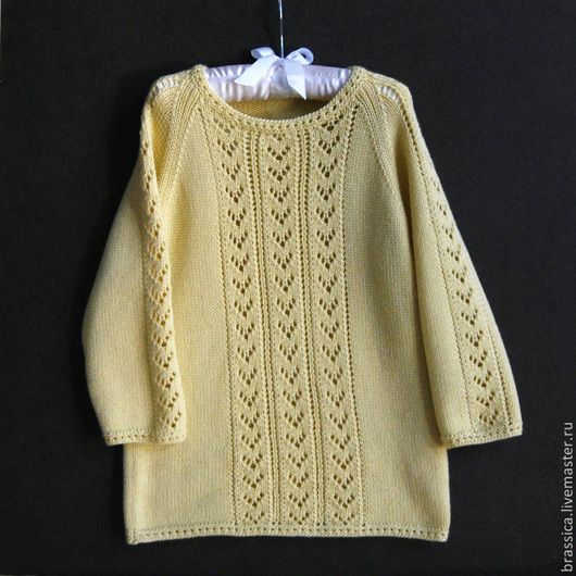 вязаная детская одежда, вязаная одежда для детей, пуловер вязаный для девочки, пуловер детский