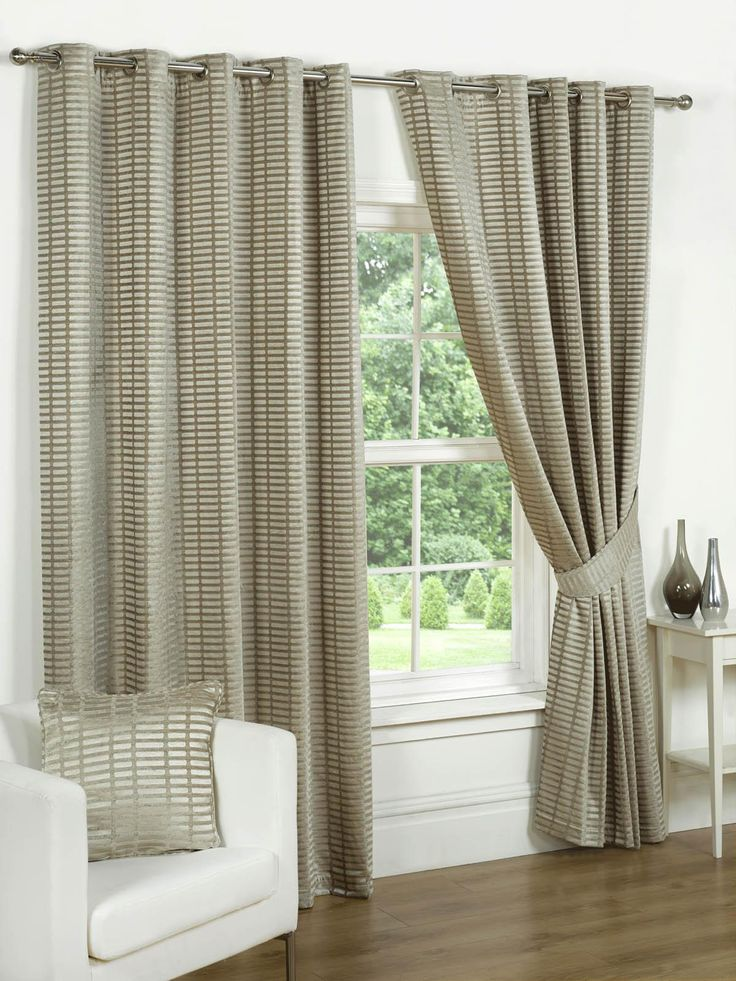 Vancouver Ready Made Lined Eyelet Curtain Curtains