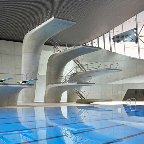 Zaha Hadid - 2012 Olympics Concrete Diving Platforms