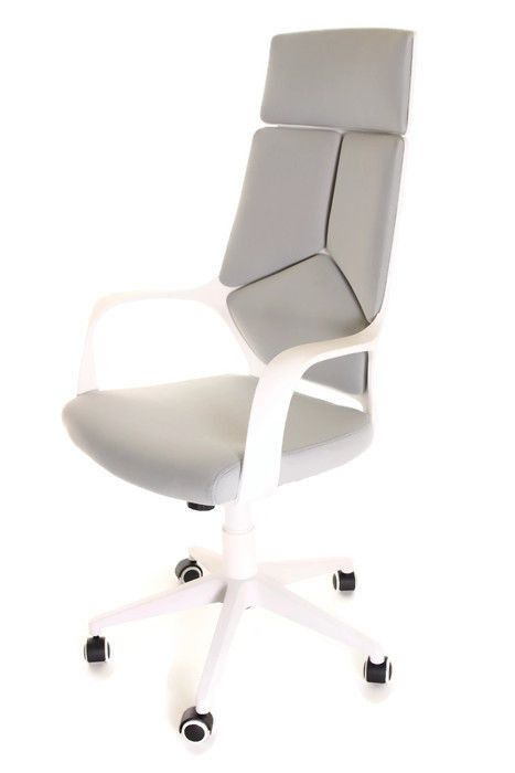 Modern Ergonomic Office Chair Grey White by TimeOffice