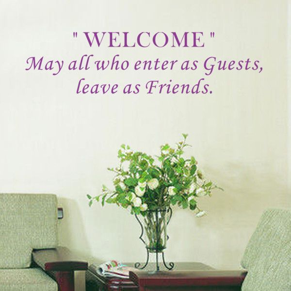 Welcome May All Who Enter as Guest Wall Decal