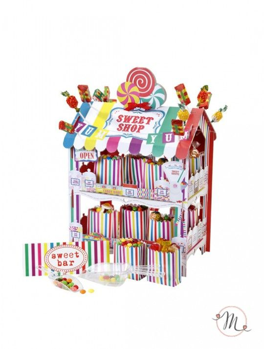 Stand per caramelle. Stand in cartoncino per caramelle e dolciumi.  Lo stand è…