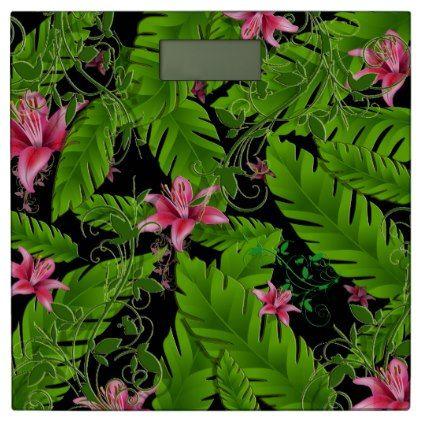 #Banana Leaf Tropical Home Decor Bathroom Scale - #Bathroom #Accessories #home #living