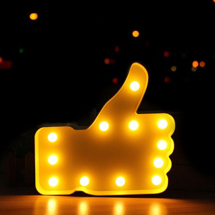 LLEVÓ la Lámpara de 12 Led de Luz de La Noche Del sitio Del Cabrito Dedo Pulgar colgar Lámpara de Mesa Para Niños Regalos de Navidad de La Boda Party Decor Batería poder en LED Luces de La Noche de Luces e Iluminación en AliExpress.com   Alibaba Group