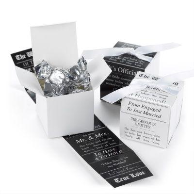 Announcement Wrap Favor Boxes   Unique Wedding Favors at Invitations By Dawn