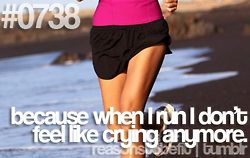 Or feel stressed anymore. Unless I have my impending half marathon...