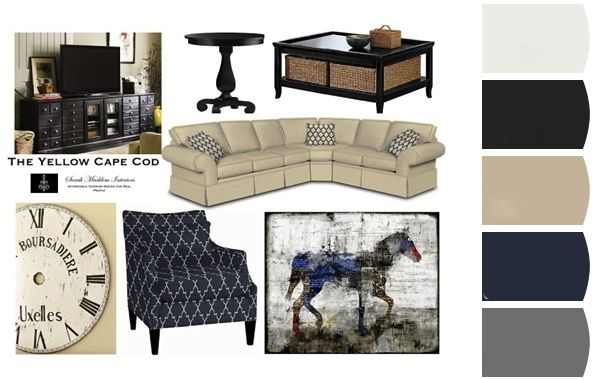 Lr Color Scheme Navy Khaki Instead Of Black Furniture
