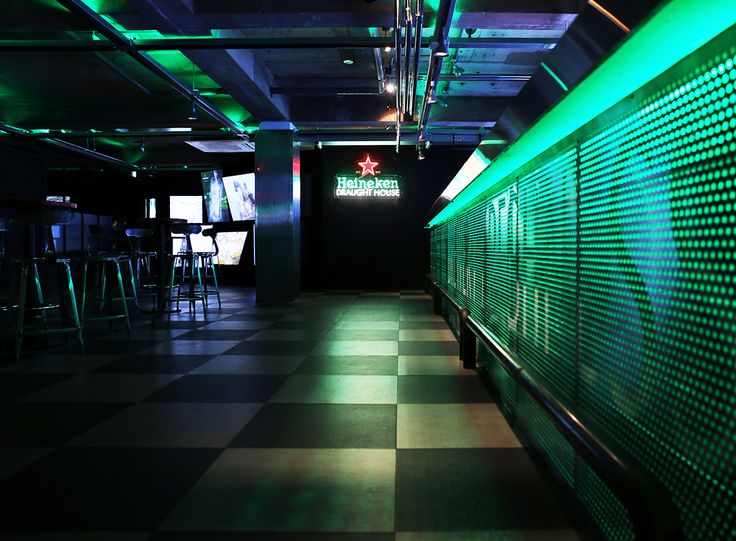 Heineken Draught House_  Design by andbut space design #Bar #Lounge #Design