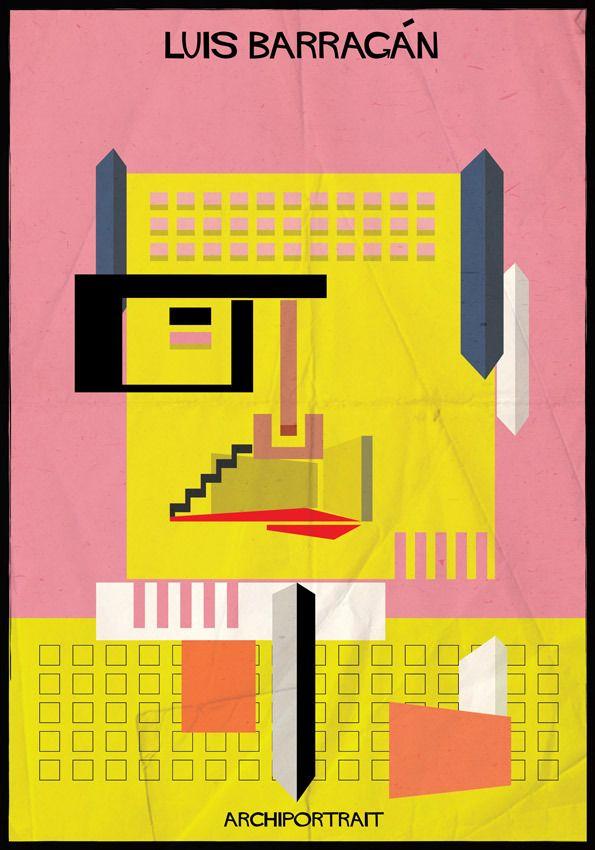 A mais recente série de ilustrações de Federico Babina: ARCHIPORTRAIT