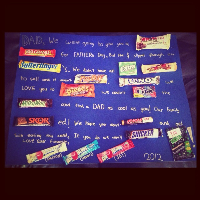 Fathers Day Candy Bar Poster