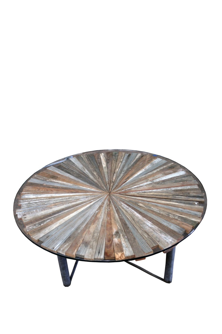 reclaimed wood coffee table..